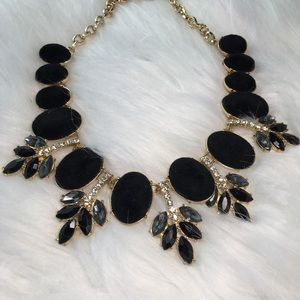 INC Gold-Tone Faux Velvet Statement Necklace